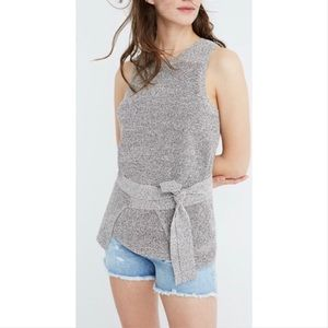 Madewell wrap & front tie knit tank top